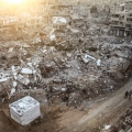 Photos: Gaza Refugees live in rubble of their bombed homes
