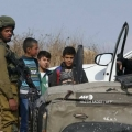 Israeli Soldiers attack Palestinian students on their way to school