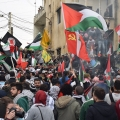 Palestinian refugees in Lebanon's camp demonstrate against worsening living conditions