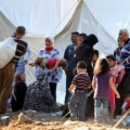 Pictured ..Suffering of Palestinian Refugees in Syria
