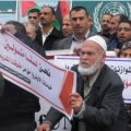 Pictures: A sit-in Before UNRWA Headquarter Protesting Services Reductions